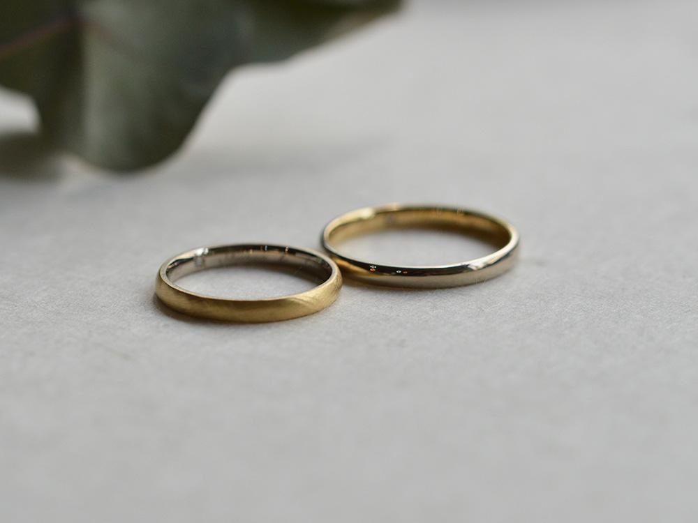 コンビカラーの指輪