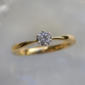 手作りの婚約指輪